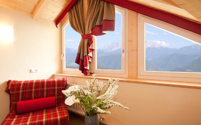 Double room larch with Dolomites view